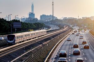 Beijing subway and high road