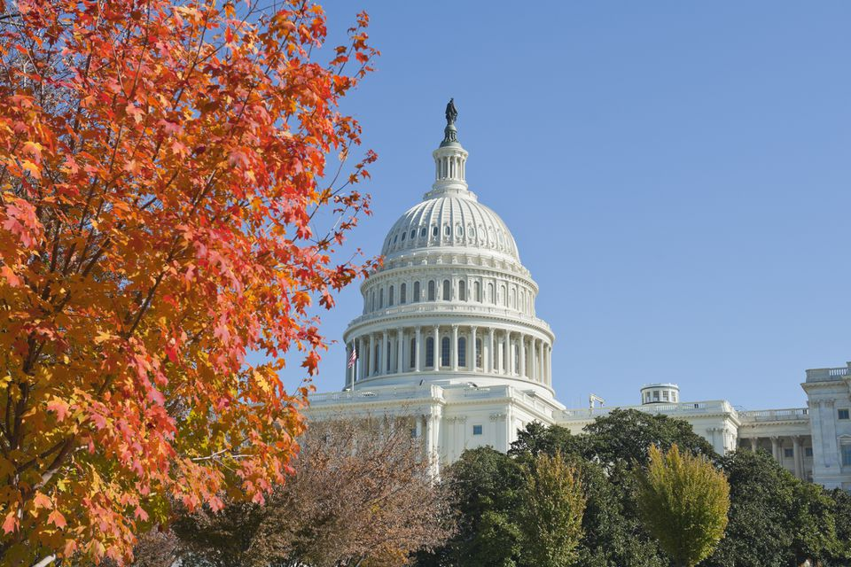 Capitol hill Washington DC in Autumn