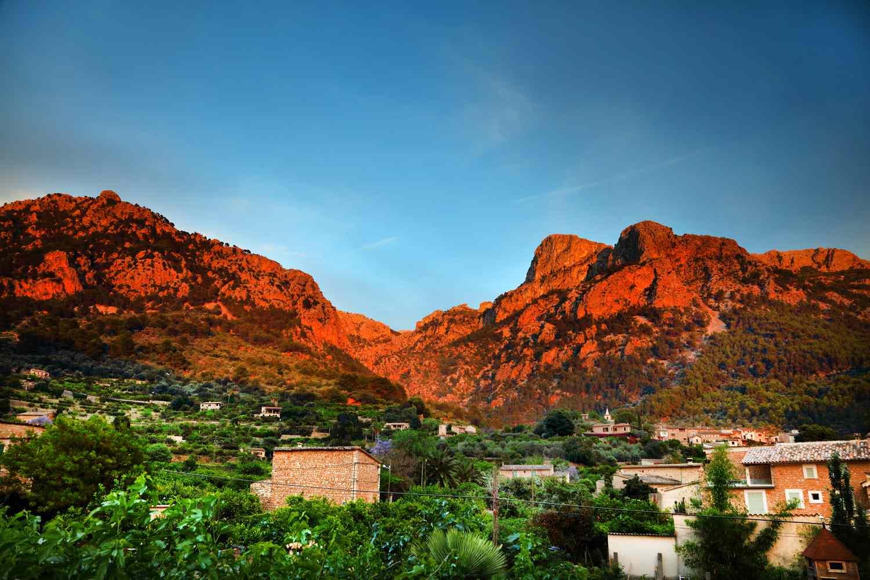 The Tramuntana mountains in Soller, Mallorca, Spain