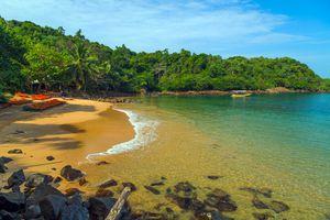 A small bay at Jungle Beach, Sri Lanka