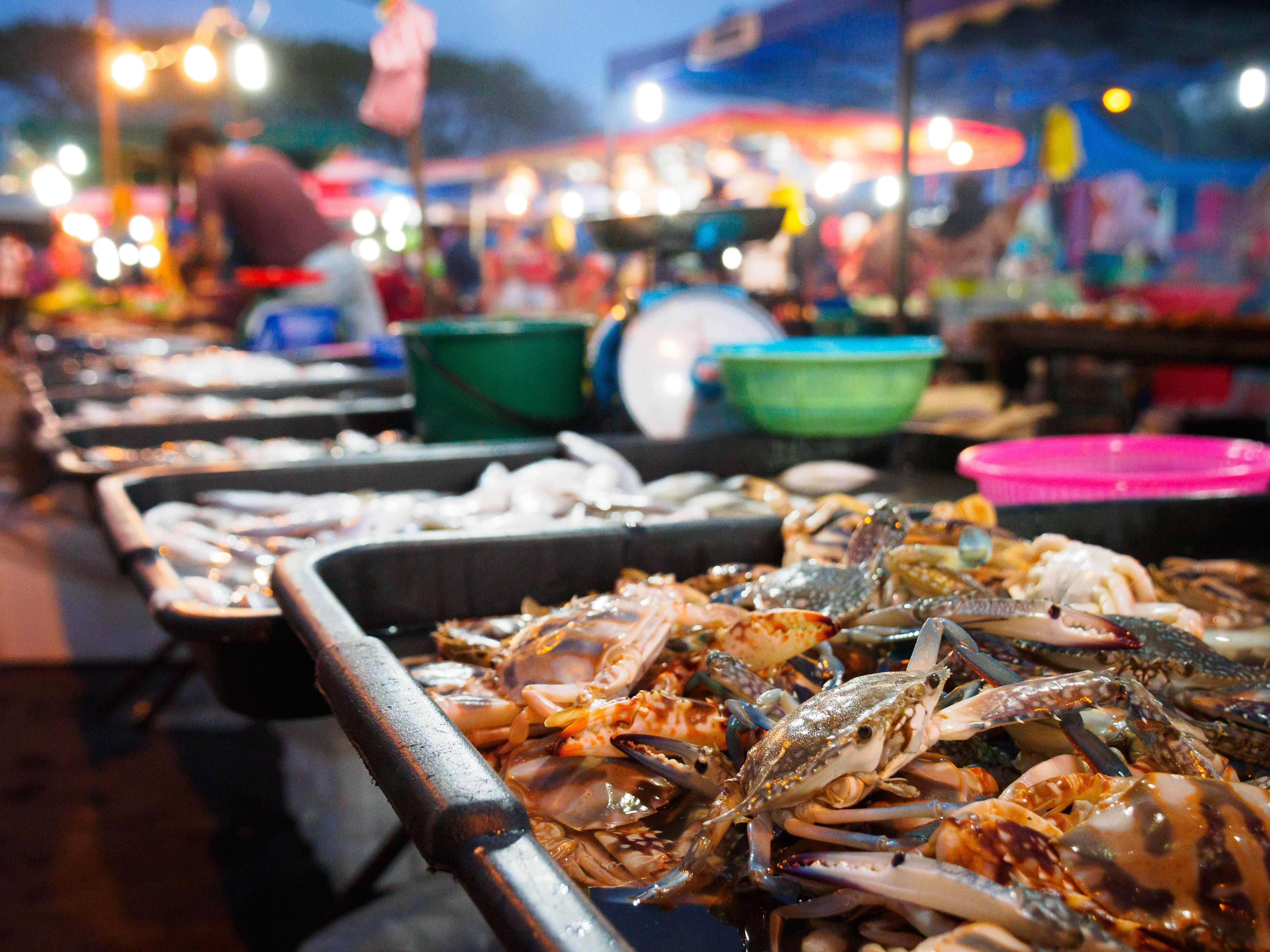 Food at the night market in Langkawi, Malaysia