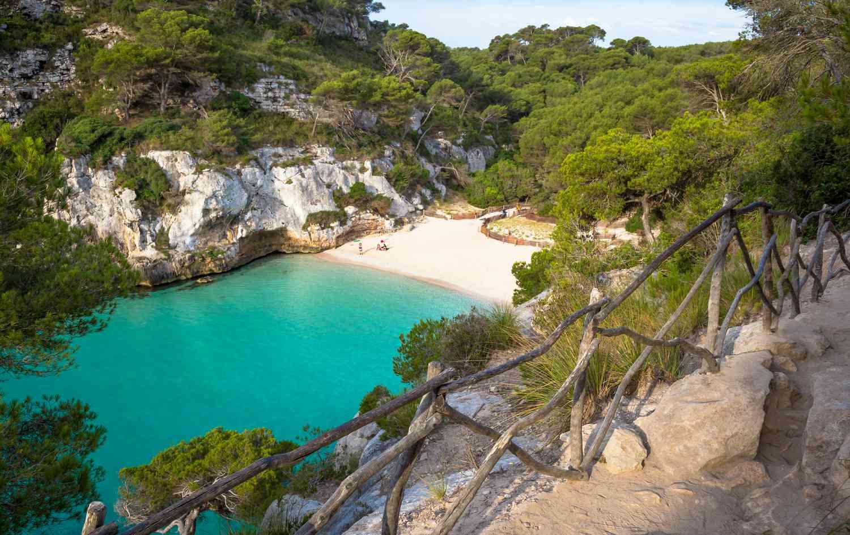 Cala Galdana beach in Menorca