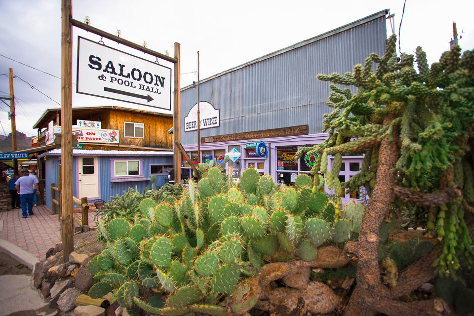 Saloon in Oatman, AZ