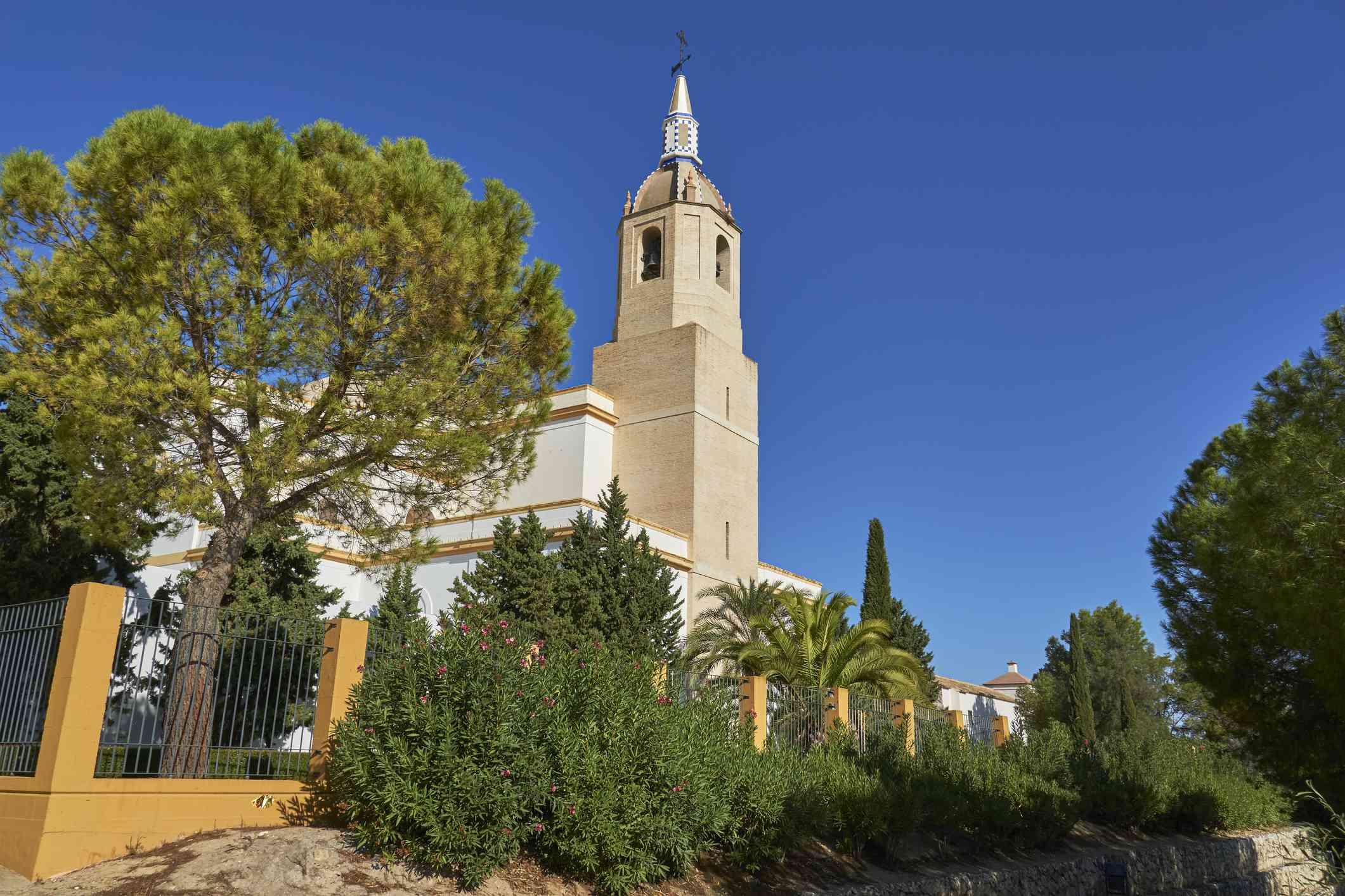Church of our Lady of Virtudes in Cazalla de la Sierra, province of Seville. Spain