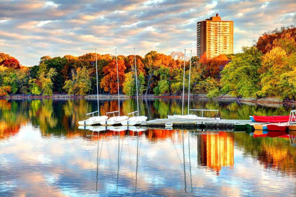 Jamaica Pond in Boston's Jamaica Plain