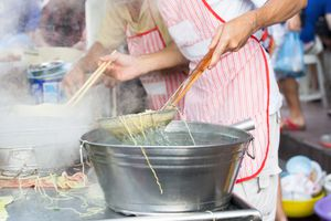 Street noodle stall in Georgetown, Penang
