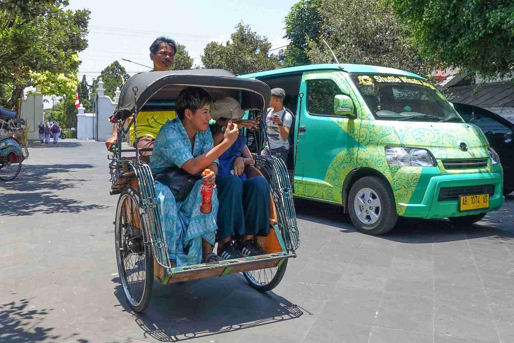 Becak in Yogyakarta, Indonesia