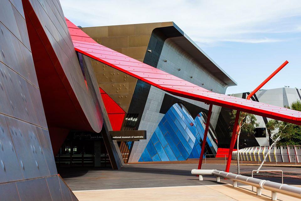 Contemporary exterior of National Museum of Australia