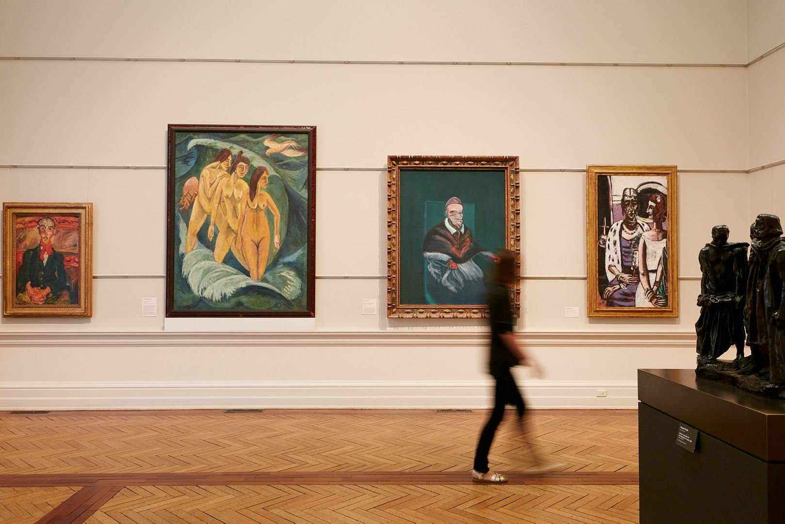 Paintings hanging in the Art Gallery of NSW