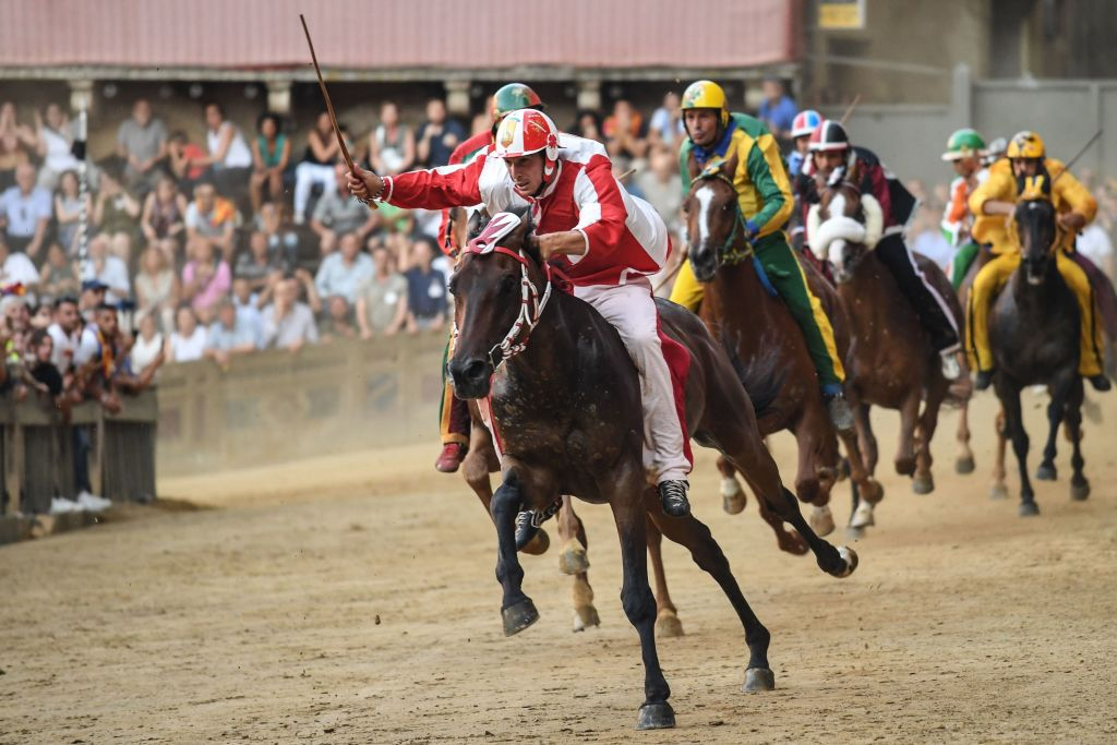 Horse race in Tuscany