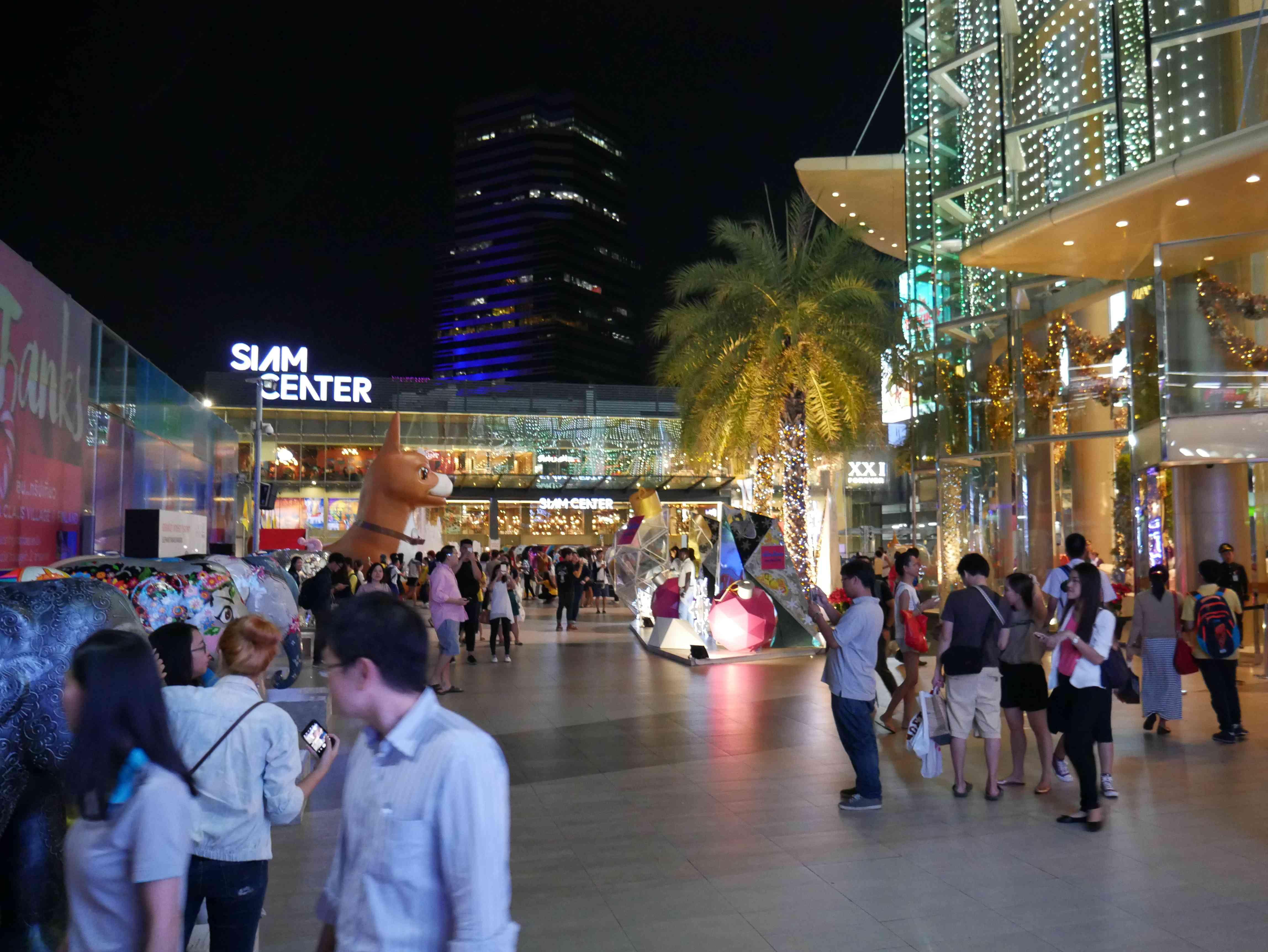 Walkway at Siam Center mall in Bangkok