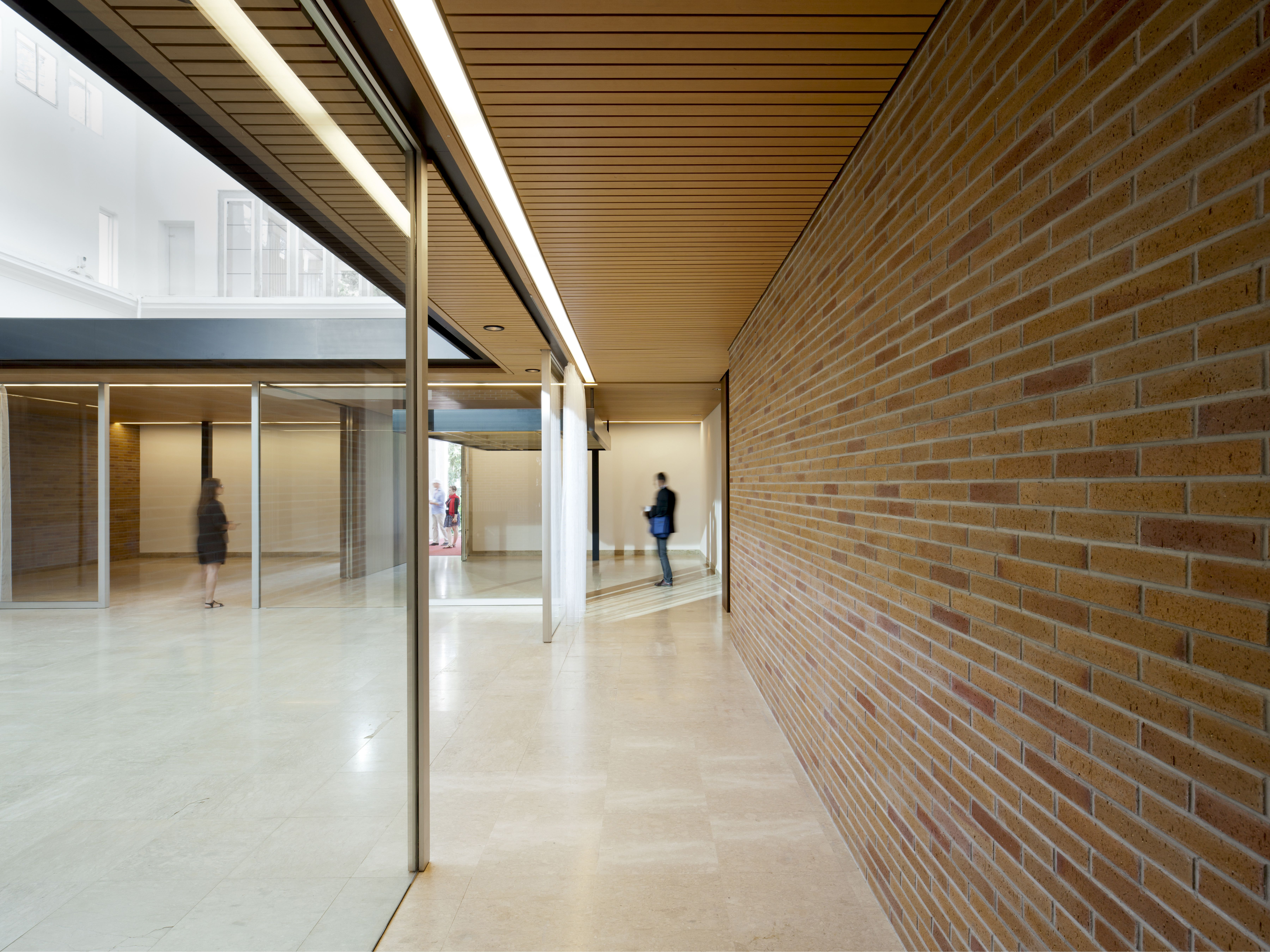 An interior view of a modern building, the 2014 Venice Biennale