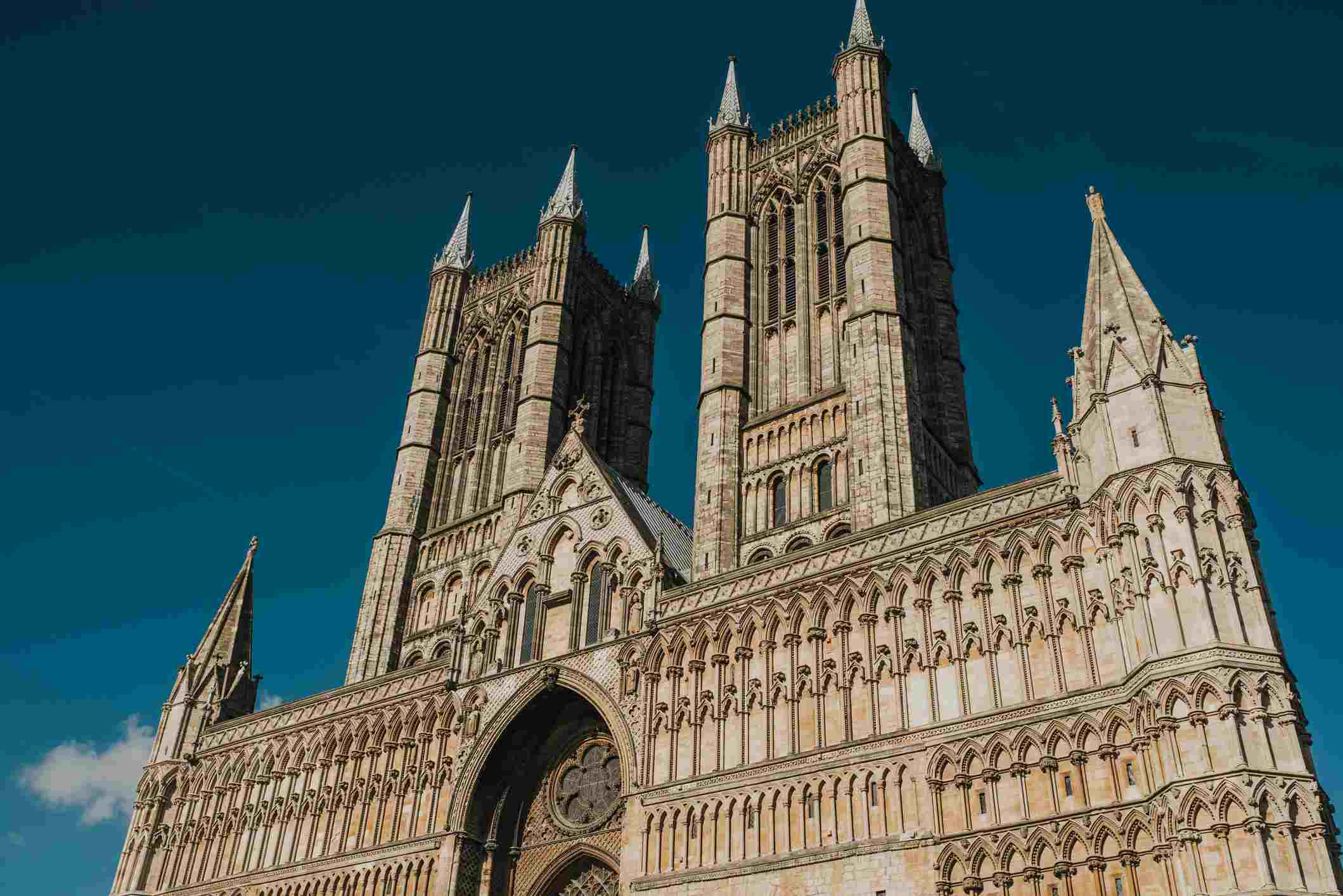 Lincoln Cathedral against a Blue Sky, lincon, United Kingdom