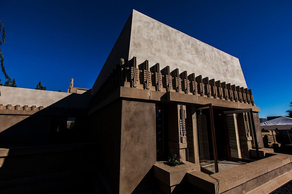 The exterior of the Hollyhock House