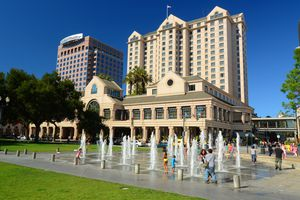 Downtown San Jose, California and the Fairmont Hotel