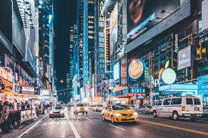 42nd Street at Night, Manhattan, New York