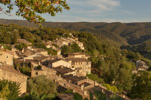 Ménerbes is a commune in the Vaucluse department in the Provence-Alpes-Côte d'Azur region in southeastern France, a walled village on a hilltop in the Luberon mountains, foothills of the French Alps.