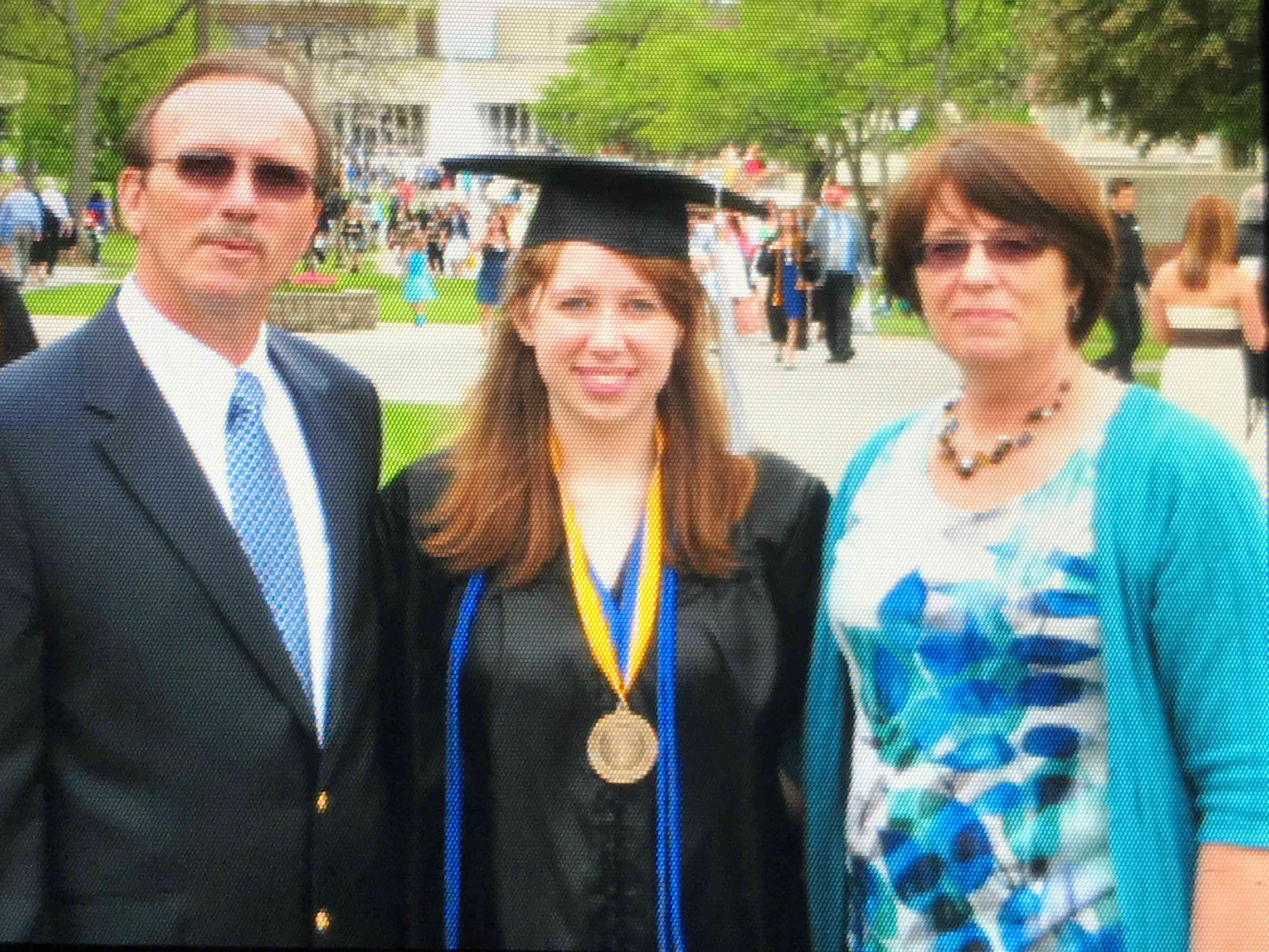 Photo of editor Taylor McIntyre with her parents