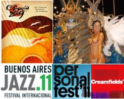 There are many music festivals in Argentina.
