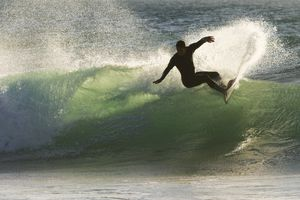 A man surfing in Portugal