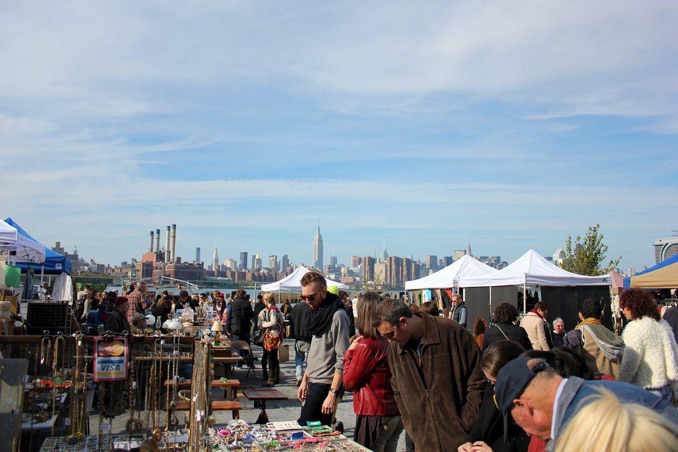 People Ping At The Brooklyn Flea Market