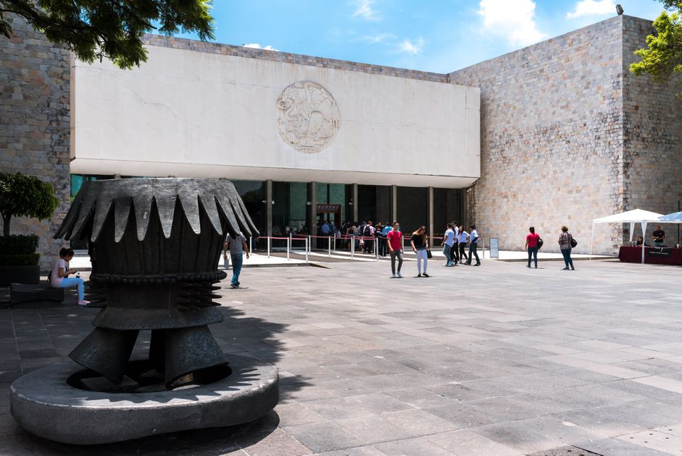 The entrance to the anthropology museum
