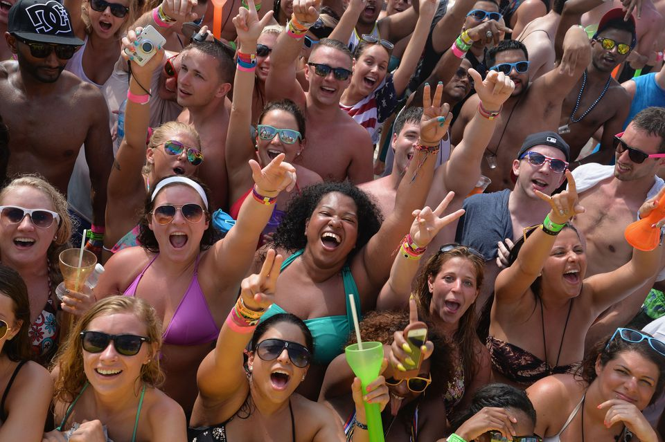 Spring Break Crowd