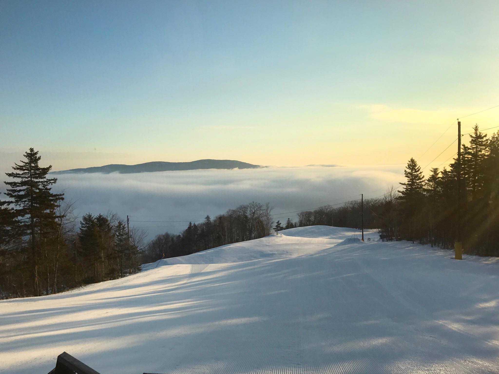 Camden Snow Bowl snow, Maine