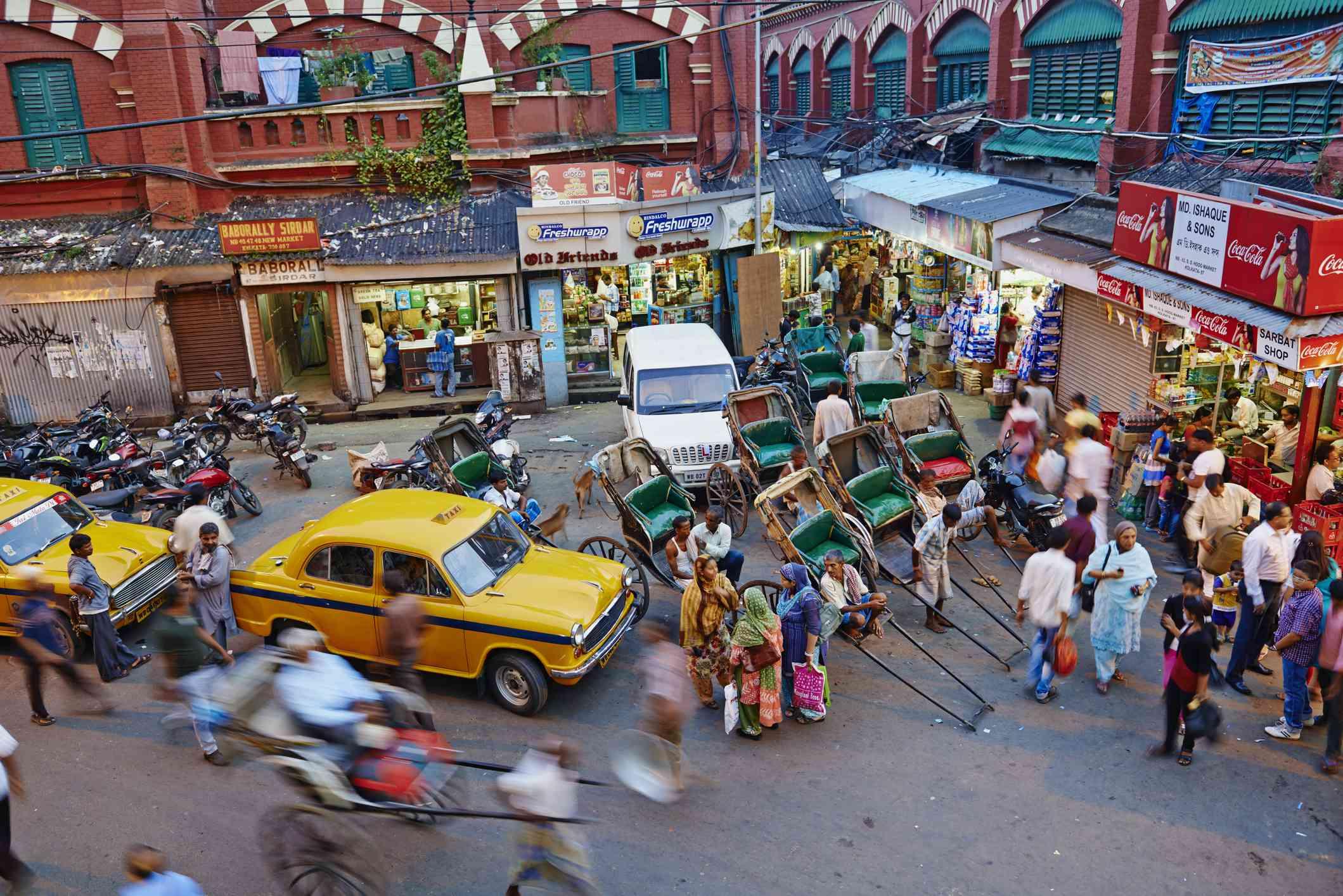 New Market area, Kolkata.