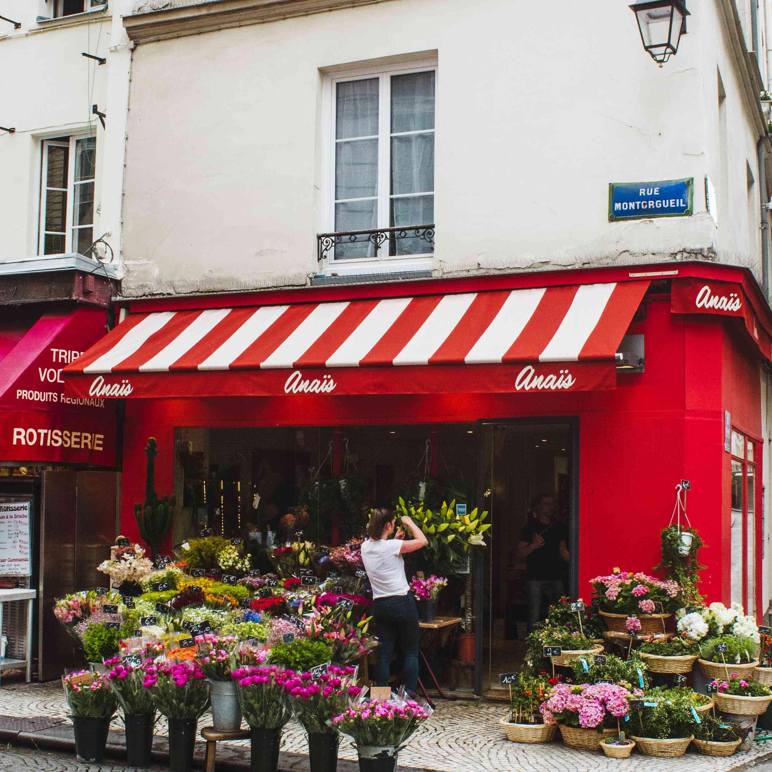 Flower shop on Rue Montorgueil