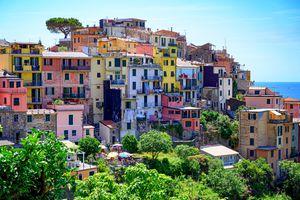 Colorful houses in Corniglia, Italy