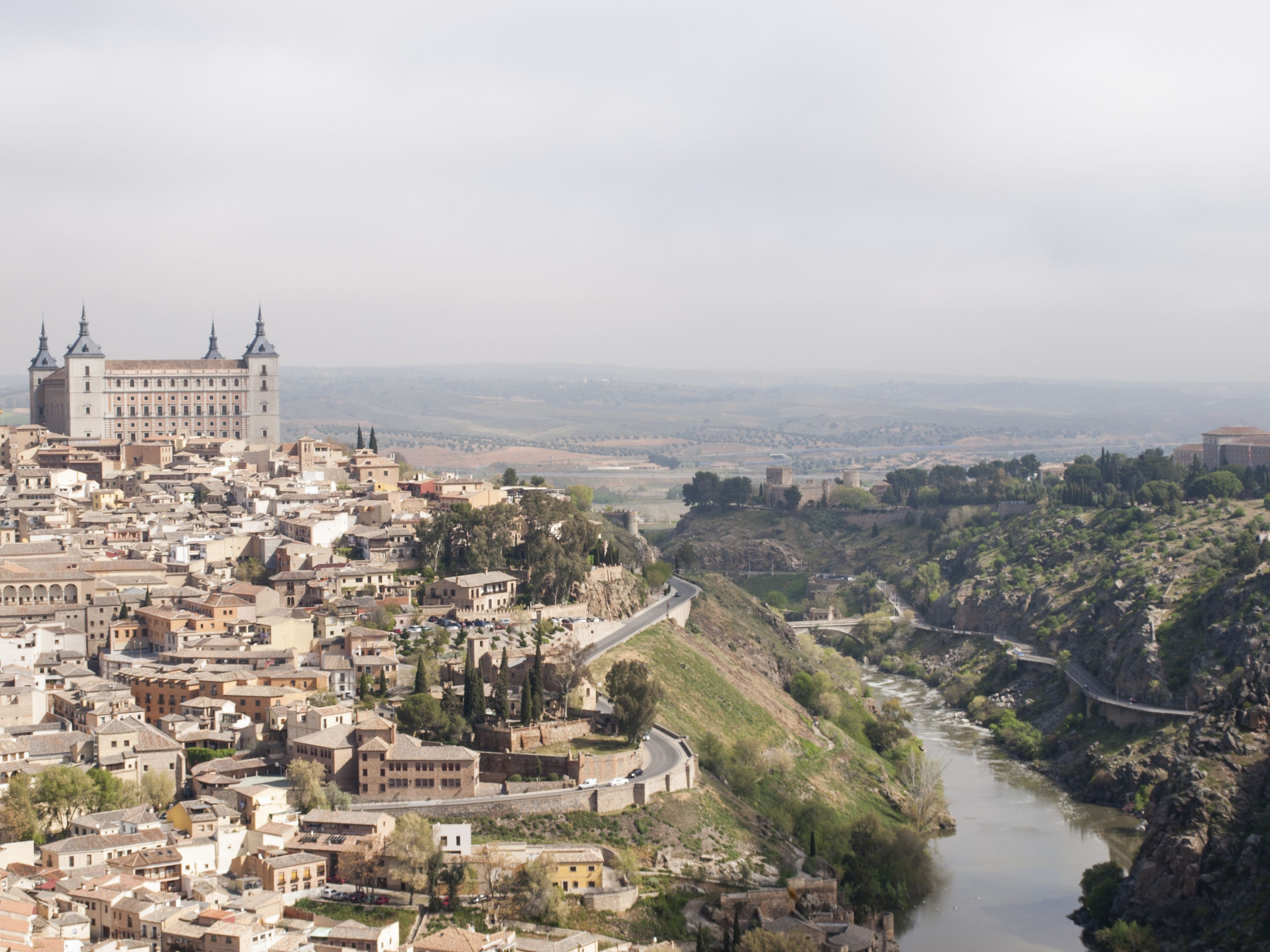 Old Town of Toledo and the Tagus River, Castilla-La Mancha, Spain