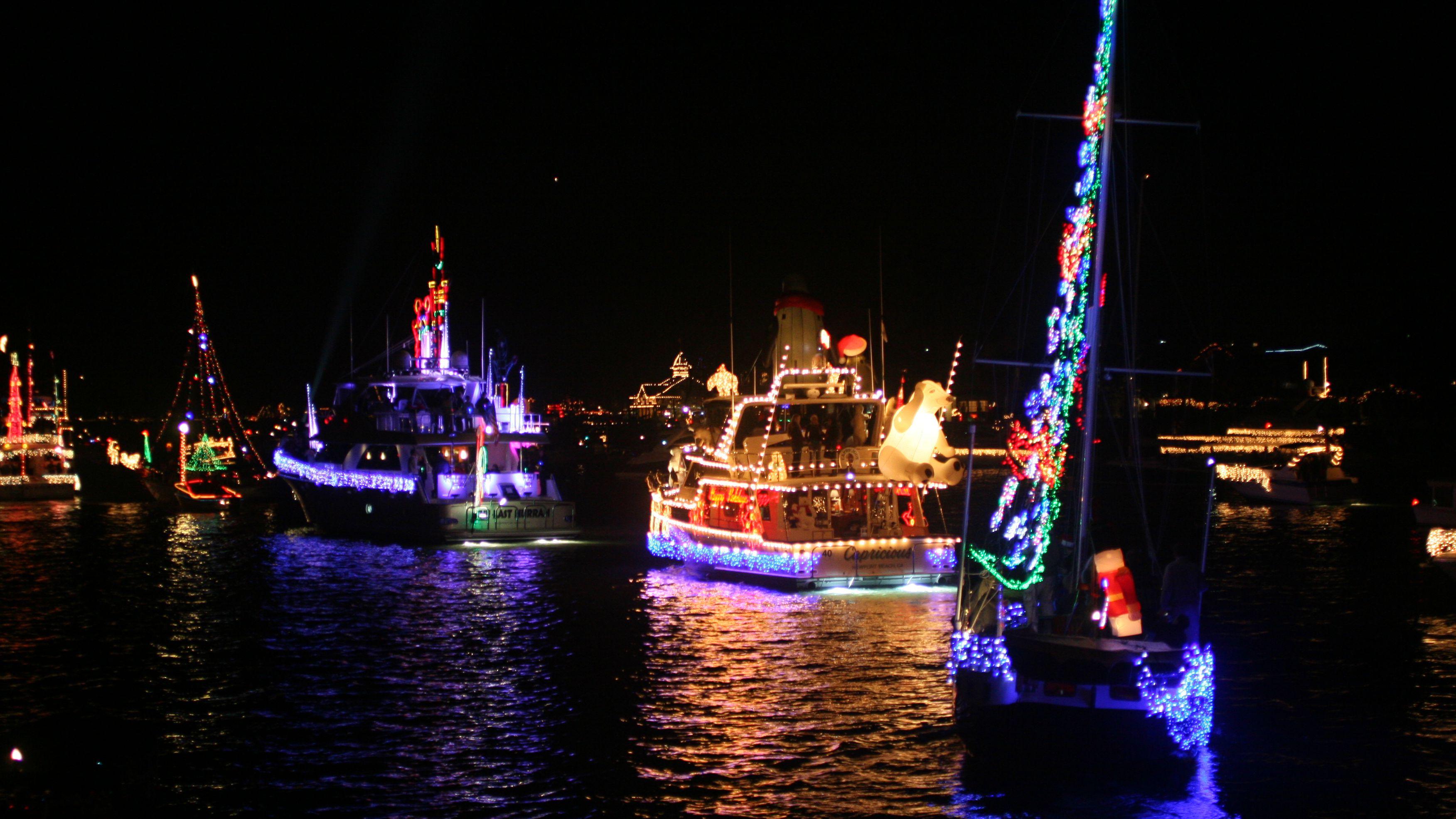Christmas Boat Parades in LA and Orange