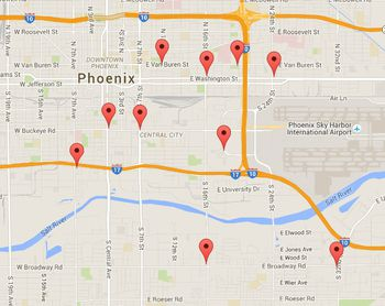 Traffic Map Phoenix Az.Metro Phoenix Deciding Where To Live