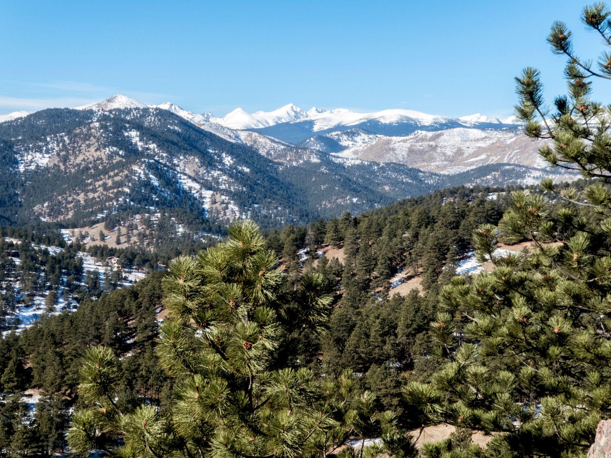 Colorado Rocky Mountains from Mount Sanitas Boulder Colorado