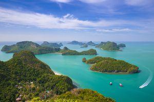 Ang Thong Marine Park islands part of the Koh Samui Archipelago