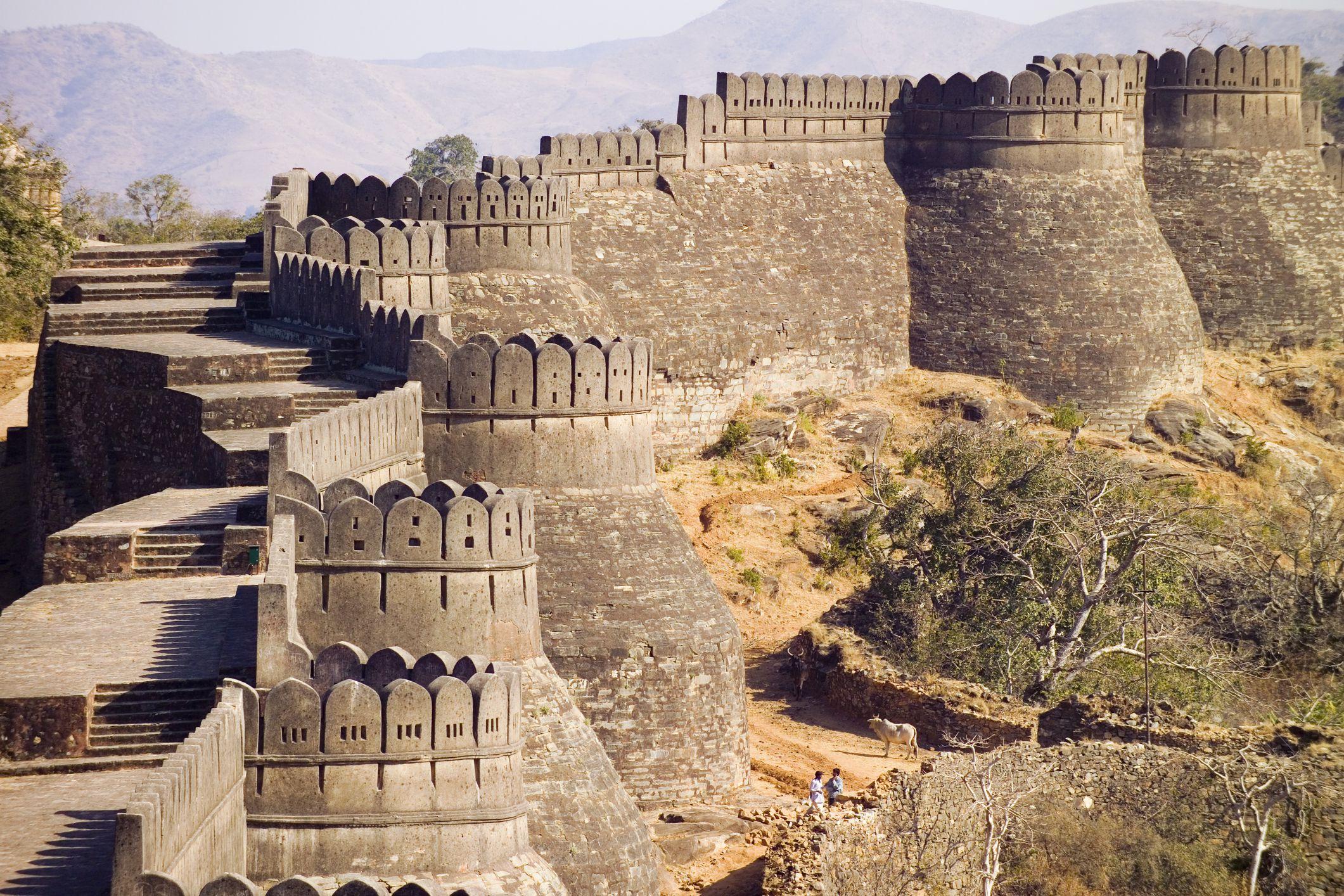 Kumbhalgarh stěny.