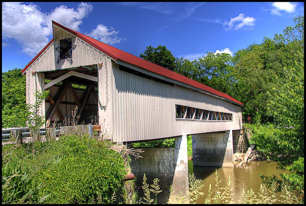Mechanicsville Road Covered Bridge HDR