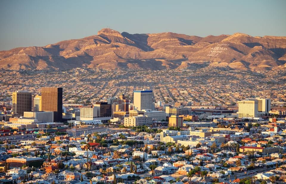 Downtown El Paso Downtown El Paso with Juarez, Mexico in the background
