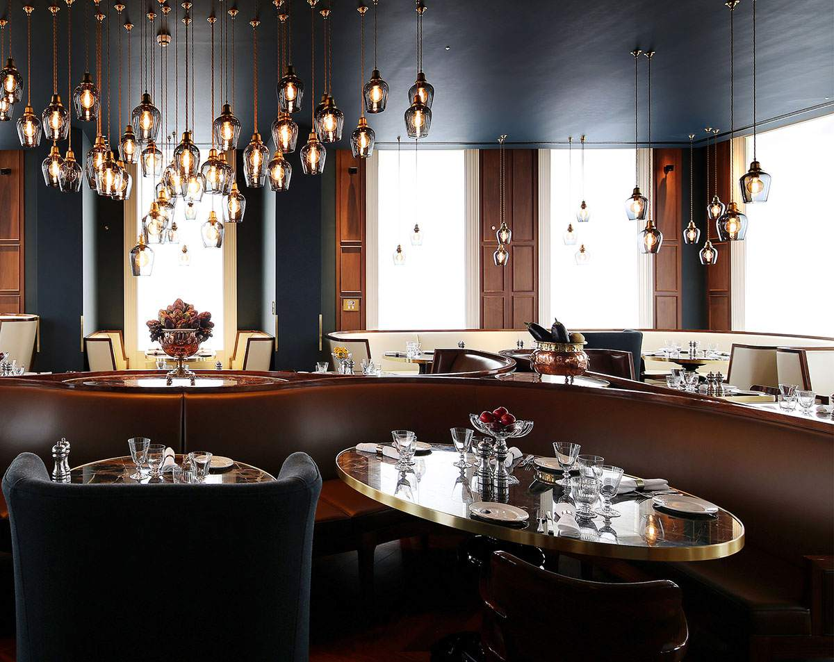 Plum and Spilt Milk is an elegant, modern restaurant at the Great Northern Hotel in London.