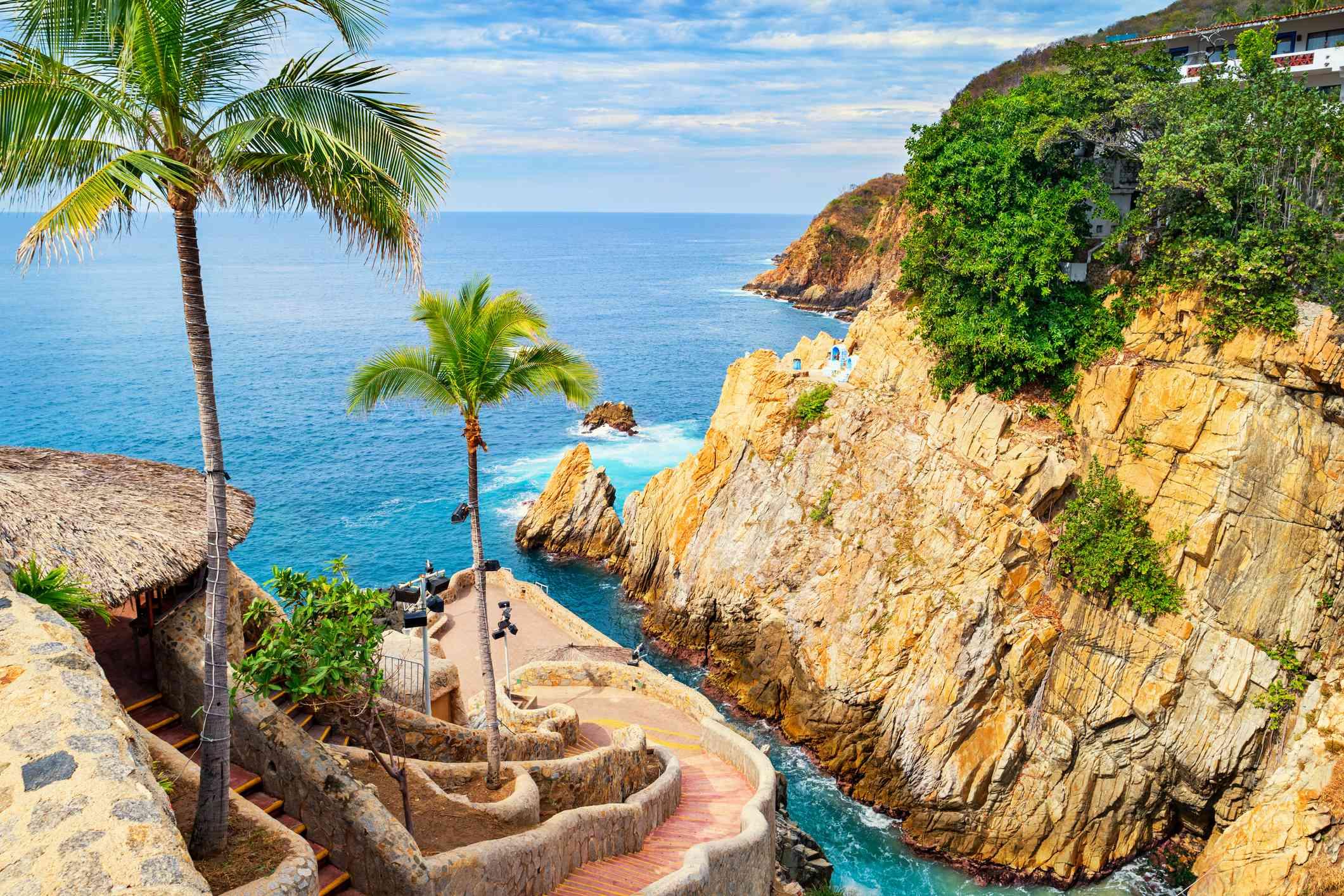 La Quebrada Cliffs and Promenade in Acapulco Mexico