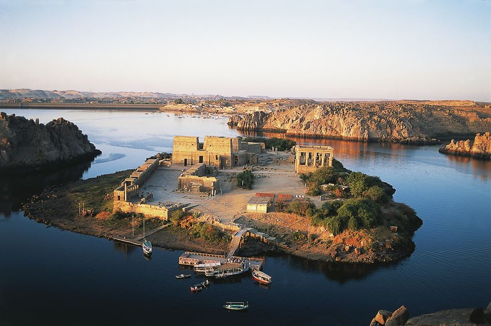 Philae temple complex on Agilkia Island, Egypt