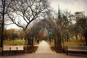 Archway into Seasons. Elegant Shades of March
