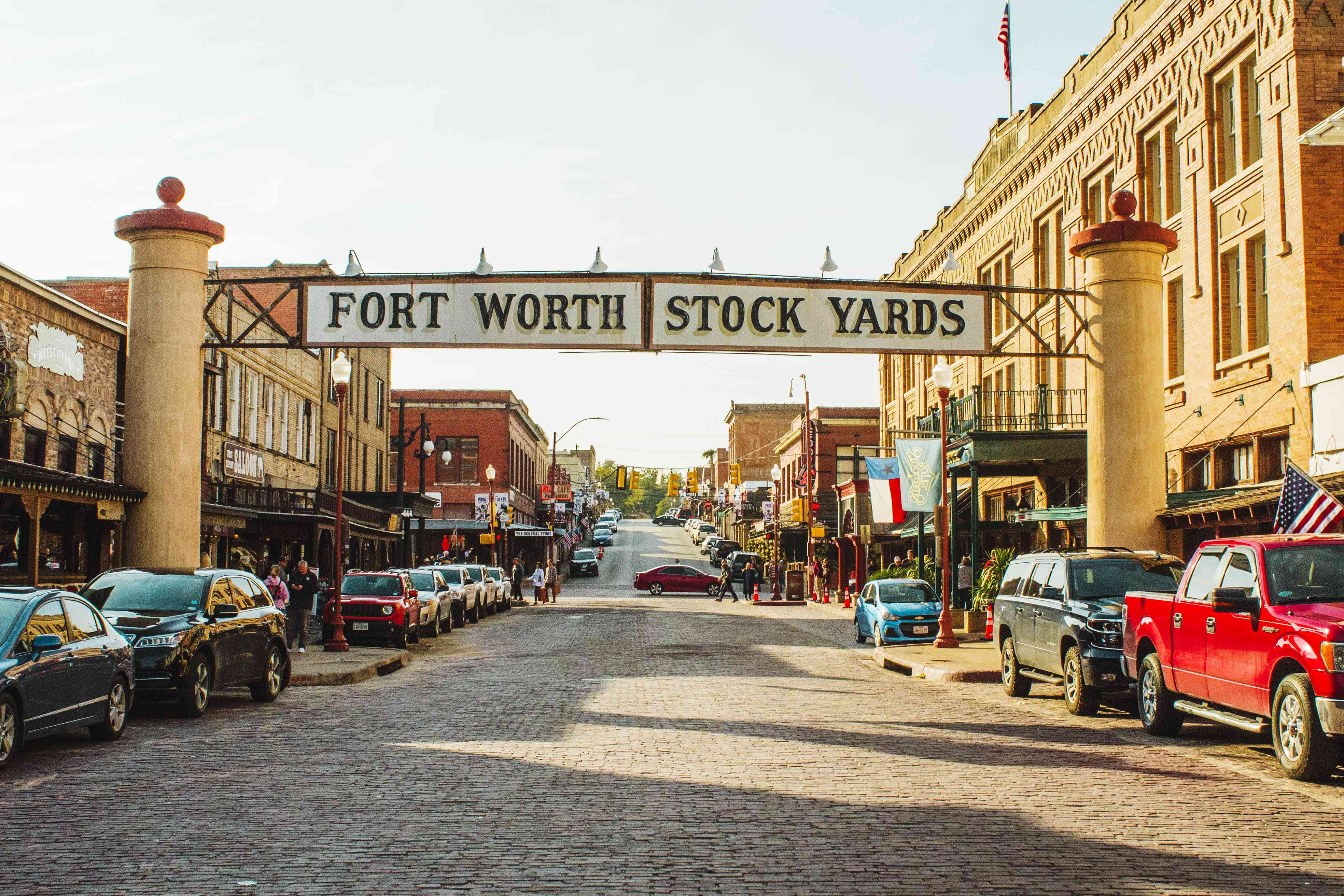 Sign for Fort Worth Stock Yards