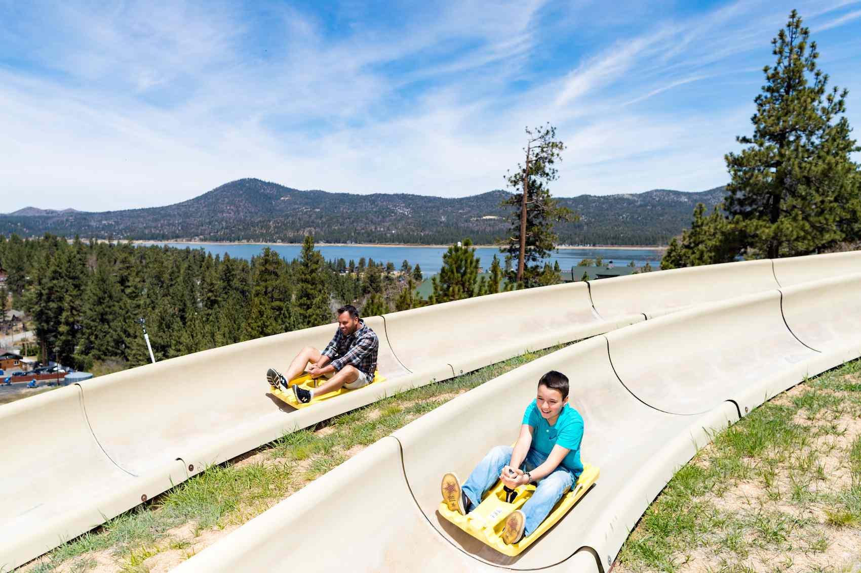 The Alpine Slide at Magic Mountain