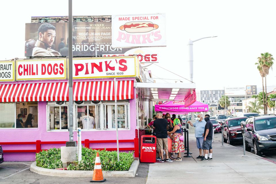 Pink's Hot Dogs in Los Angeles, CA