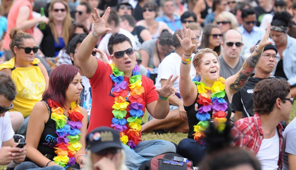 Fun at Auckland Pride Festival New Zealand