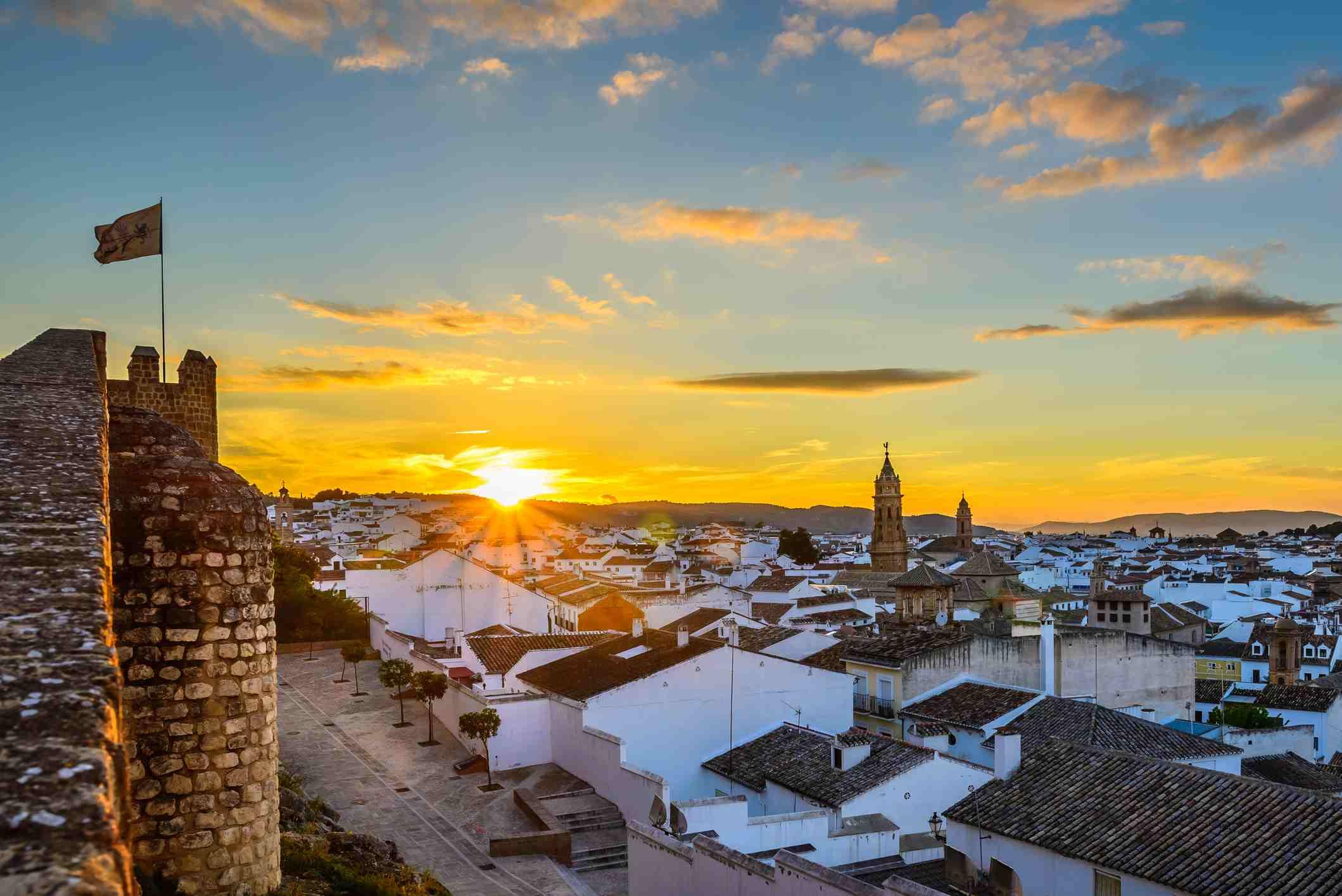 The sunset in Malaga