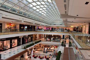 Inside the houston shopping mall