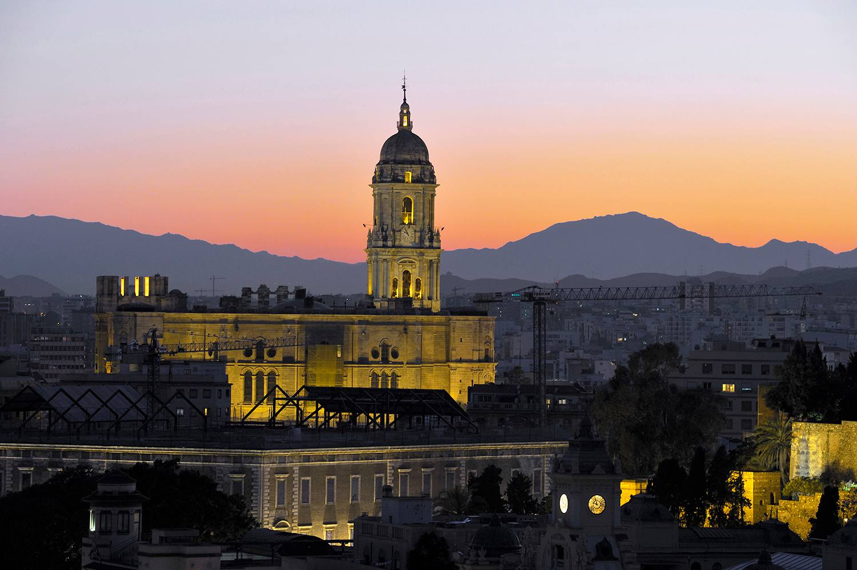 Spain, Andalusia, Costa del Sol, Malaga, Cathedral